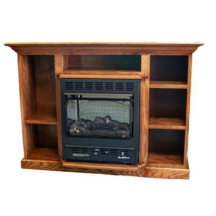 Prestige Series PA KDM1127PRES-BLK Bookcase Mantel in