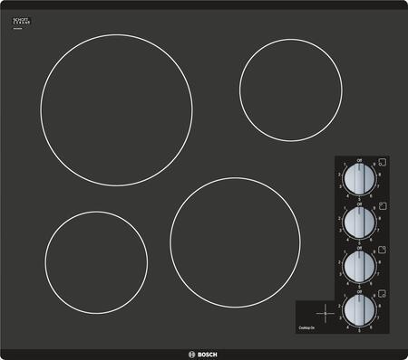 Bosch 500 Series NEM5466UC Electric Cooktop Black, Main Image