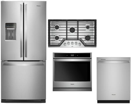 Whirlpool  1017440 Kitchen Appliance Package Stainless Steel, main image