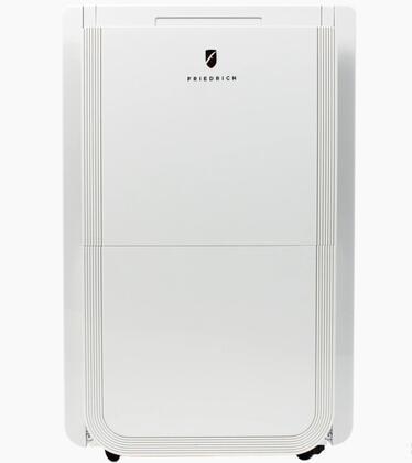 D50B1A 15″ White Dehumidifier with 50 Pint Capacity  Built In Drain Pump  Energy Star  17″ Drain
