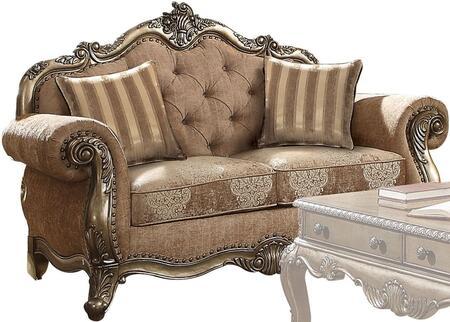 Acme Furniture Ragenardus 56031 Loveseat Brown, 1