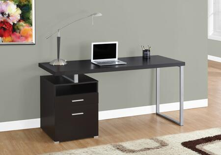 333383 30″ Particle Board and Gray Metal Computer