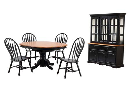 Sunset Trading Sunset Black Cherry Selections DLUTBX4866413022BHAB7PC Dining Room Set Multi Colored, Main Image