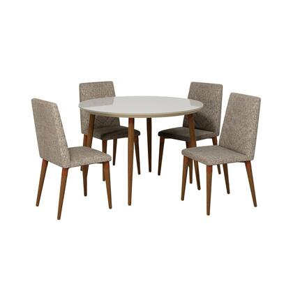 Utopia Collection 2-1015052109253 5 PC Dining Set with Contemporary Modern Style  Medium-Density Fiberboard (MDF) Frame  Solid Wood Feet and