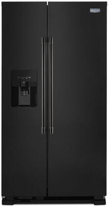 Maytag Mss25c4mgb 36 Inch Black Side By Side Refrigerator In Black Appliances Connection