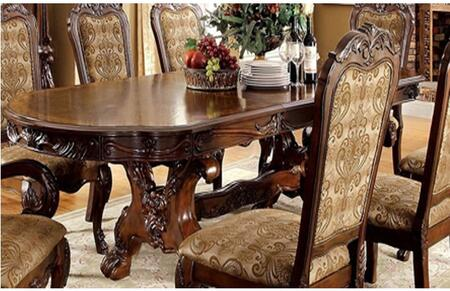 Furniture of America Medieve CM3557CHTTABLE Dining Room Table Brown, Main Image