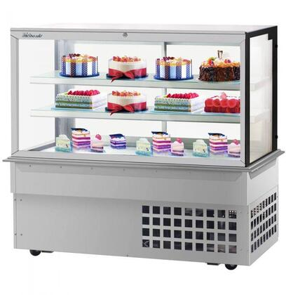Turbo Air TBP6054FDN Display and Merchandising Refrigerator Stainless Steel, TBP6054FDN Angled View