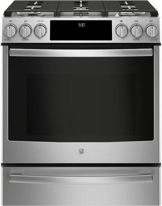GE Profile PGS930SELSS Slide-in Gas Range Cooktop