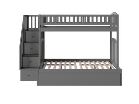 Atlantic Furniture Westbrook AB65759 Bed Gray, AB65759 SILO SK TR1 180