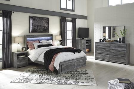 Signature Design by Ashley Baystorm B221QSBTVCDMN Bedroom Set Gray, B221QSBTVCDMN Main View