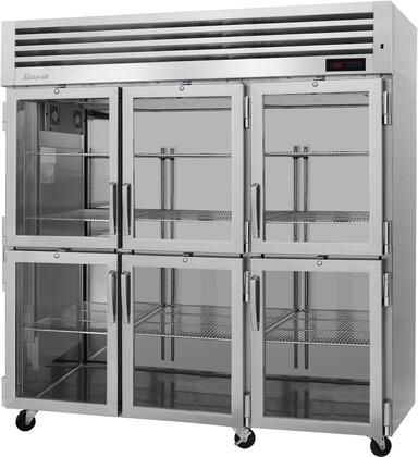 PRO-77-6H-G 78″ Pro Series Glass Half Door Heated Cabinet with 73.9 cu. ft. Capacity  Digital Temperature Control & Monitor System  Ducted Fan Air