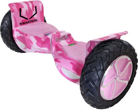 T6PCAMO Swagboard T6 Outlaw Off   Road Hoverboard with 10″ Tubless Tires  Non-Slip Foot Pedals and Bluetooth Speakers in Pink