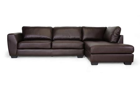 Wholesale Interiors Orland IDS023BROWNRFC Sectional Sofa Brown, IDS023-BROWN-RFC Front