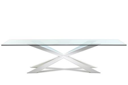 VIG Furniture Modrest Xavier VGVCT896820CLR Dining Room Table Clear, 1