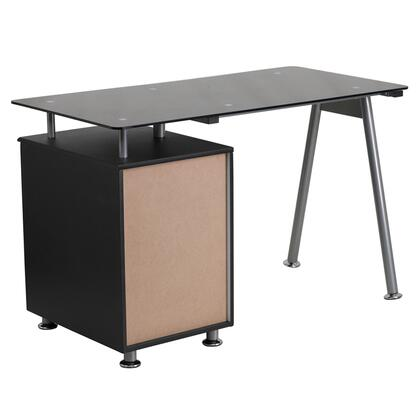 Flash Furniture Nanwk021agg, Flash Furniture Black Glass Computer Desk With Pull Out Keyboard Tray