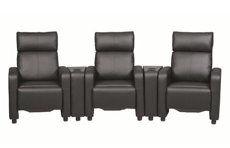 Coaster  60018182 Home Theater Seating Black, Main Image