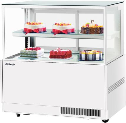 Turbo Air TBP6046NNW Display and Merchandising Refrigerator White, TBP6046NNW Angled View