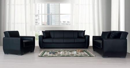 Alpha Furniture Lola Collection Lolasofaset 3 Pc Living Room Set