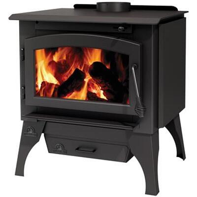 Napoleon Timberwolf Economizer 2100 Wood Heating Stove Black, With Leg Kit