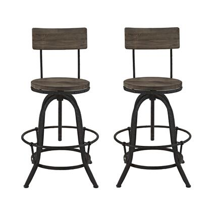 Modway Procure EEI1605BRNSET Bar Stool Brown, Bar Stools