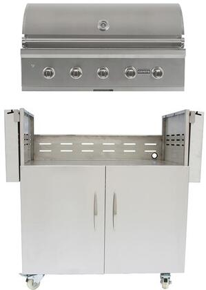 C2C42NG 42″ C-Series Built-In Natural Gas Grill with 5 Infinity Burners  304 Stainless Steel Construction  and Grill Lighting  in Stainless
