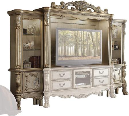 Acme Furniture Dresden 91330 Entertainment Center Gold, Main Image