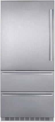 Liebherr  CS2081 Bottom Freezer Refrigerator Stainless Steel, CS2081 Fridge-Freezer with NoFrost