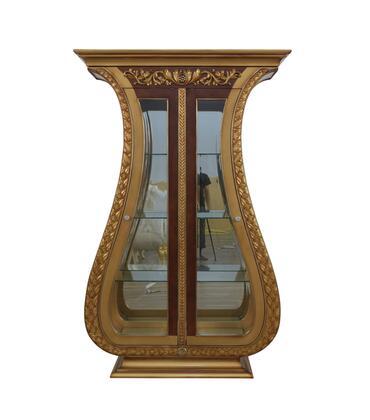 European Furniture Maggiolini 51955CB Curio Cabinet Brown, Main Image