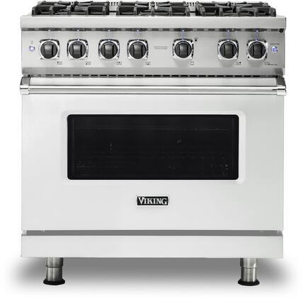 Viking 5 Series VGR5366BFWLP Freestanding Gas Range White, VGR5366BFWLP Gas Range
