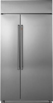 "Cafe  CSB42WP2NS1 Side-By-Side Refrigerator Stainless Steel, CSB42WP2NS1 42"" Built-In Side-by-Side Refrigerator"