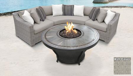 TK Classics COAST04HASH Outdoor Patio Set, COAST 04h ASH