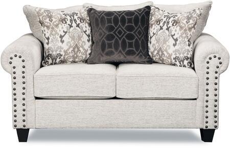 Lane Furniture Della 9175BR02DELLALINEN Loveseat White, Loveseat