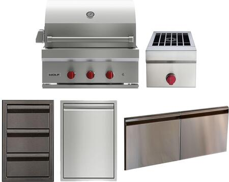Wolf  1035188 Grill Package Stainless Steel, maini image
