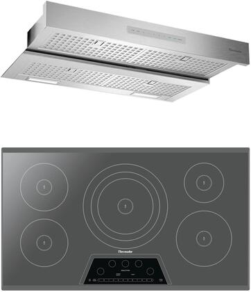 2 Piece Kitchen Appliances Package with CIT365KM 36″ Electric Induction Cooktop and HMDW36WS 36″ Under Cabinet Insert Hood in Stainless