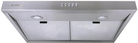UC-PS16SS-30 30″ PS16 Under Cabinet Range Hood with 450 CFM  Aluminum Mesh Filters  LED Lighting and Three-Way Venting in Stainless