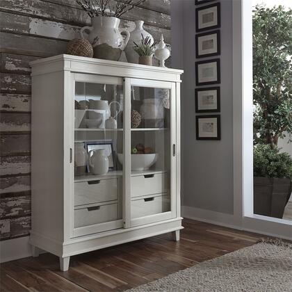 Liberty Furniture Summer Hills 518CH4657 China Cabinet White, Lifestyle