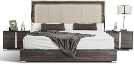 VIG Furniture Modrest San Marino VGACSANMARINOBEDGRYEK Bed Gray, Main Image