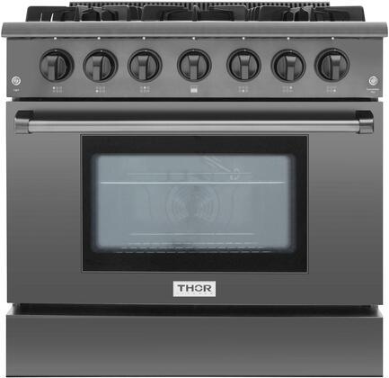 Thor Kitchen HRG3618BS Freestanding Gas Range Black Stainless Steel, 1