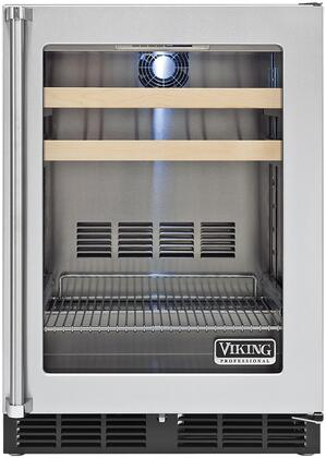 Viking 5 Series VBCI5240GRSS Beverage Center Stainless Steel, Fron View. Righ Hinge Side