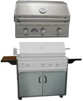 320BQTR TR Series 32″ Natural Gas Freestanding Grill with 54 000 BTU  3 Stainless Tube Burners and Warming Rack in Stainless