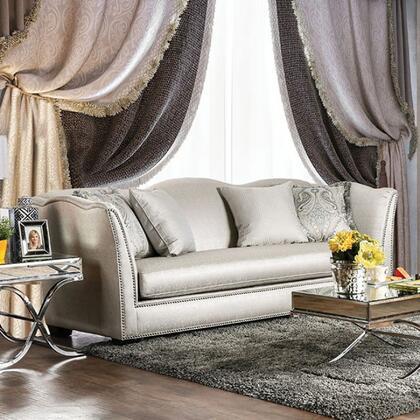 Furniture of America Alessandra SM2288SF Stationary Sofa Silver, Main Image
