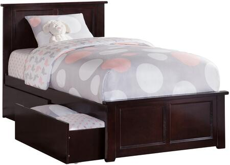 Atlantic Furniture Madison AR8616111 Bed Brown, AR8616111 SILO BD2 30