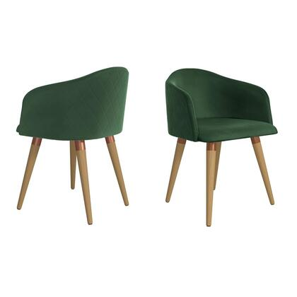 Kari Collection 2-1020483 Set of 2 Accent Chairs with Rubber Chair Stopper  Contemporary Modern Style  Medium-Density Fiberboard (MDF) Frame  Solid