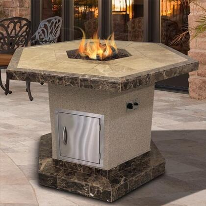 Cal Flame Fpth1050t Outdoor Fireplace With 55 000 Btu Fire Logs