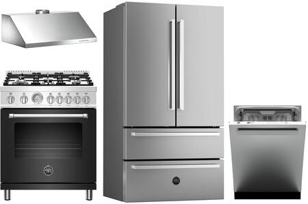 Bertazzoni 1127985 Kitchen Appliance Package & Bundle Stainless Steel, Main Image