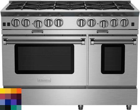 "BlueStar Platinum BSP488BLCFPLT Freestanding Gas Range Custom Color, 48"" Platinum Series Range"