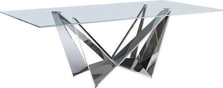 ESF Modern I17850 Dining Room Table Clear, Main Image