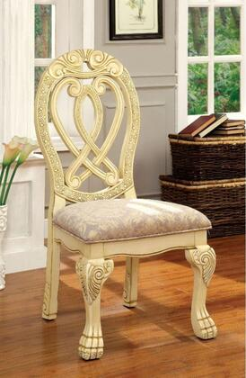 Furniture of America Wyndmere CM3186WHSC2PK Dining Room Chair White, Main Image