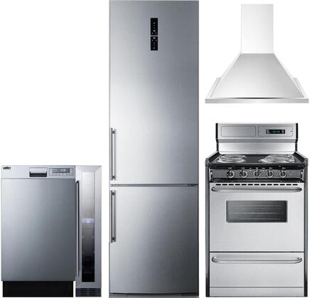 Summit 1114243 Kitchen Appliance Package & Bundle Stainless Steel, main image