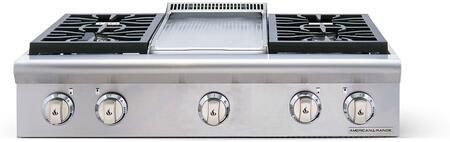 American Range Performer AROBSCT436GDN Gas Cooktop Stainless Steel, 1